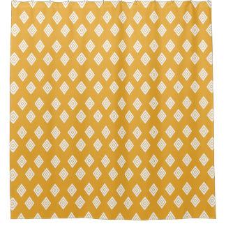 Repeating Orange Diamond Shower Curtain