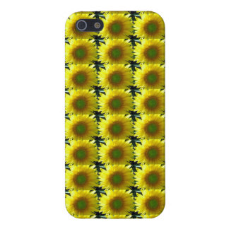Repeating Sunflowers iPhone 5 Cases