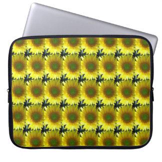 Repeating Sunflowers Laptop Sleeve