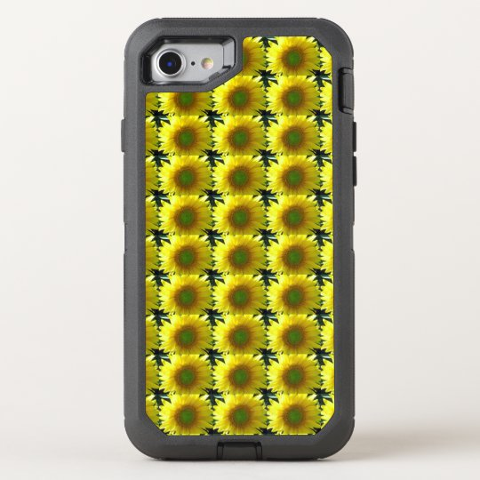 Repeating Sunflowers OtterBox Defender iPhone 7 Case