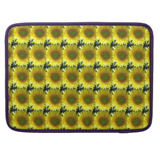 Repeating Sunflowers Sleeve For MacBook Pro