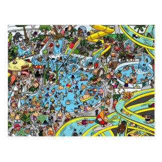 Repérez le plongeur de mer profonde cartes postales