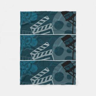 Repetitive Film Set Images Fleece Blanket