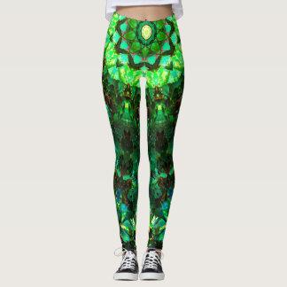 Repetitive Green Leggings