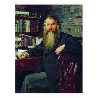 Repin-Portrait d'Ilya d'historien et d'archéologue Carte Postale