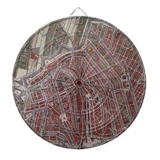 Replica city map of Amsterdam 1652 Dartboards