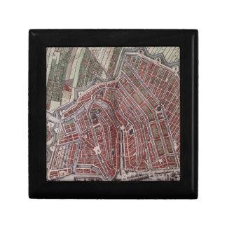Replica city map of Amsterdam 1652 Gift Box