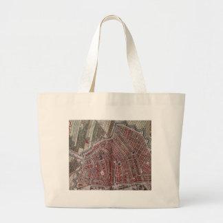 Replica city map of Amsterdam 1652 Large Tote Bag