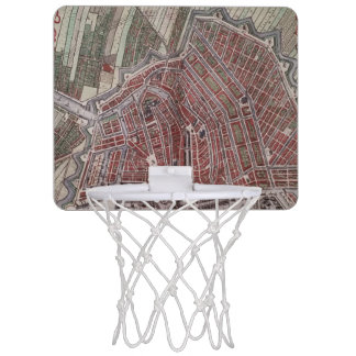 Replica city map of Amsterdam 1652 Mini Basketball Hoop
