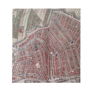 Replica city map of Amsterdam 1652 Notepad