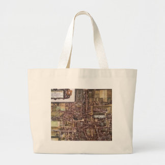 Replica city map of The Hague 1649 Large Tote Bag
