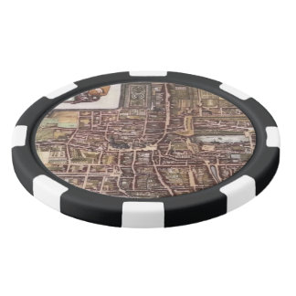Replica city map of The Hague 1649 Poker Chips