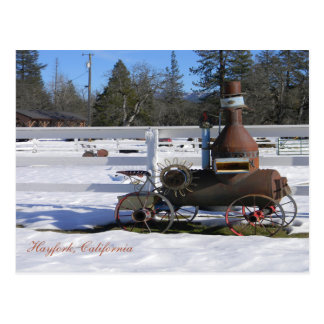 Replica of a Historical Steam Engine tractor... Postcard