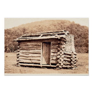 Replica of first cabin built in Kentucky Poster