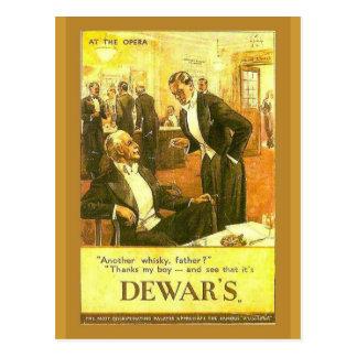Replica Vintage advertising, Dewar's Whisky Postcard