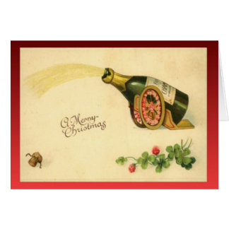 Replica Vintage Christmas, Bottle of champagne Card