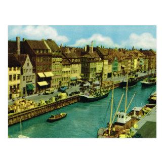 Replica Vintage  Denmark, Fishing boats Copenhagen Postcard