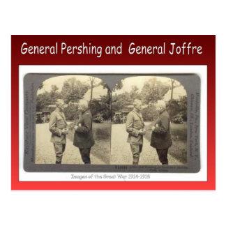 Replica Vintage General Pershing, General Joffre Postcard