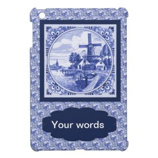 Replica Vintage image, Blue Delft tile design iPad Mini Cover