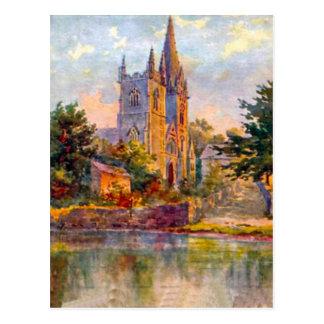 Replica Vintage Image, Cardiff, Llandaff Cathedral Postcard