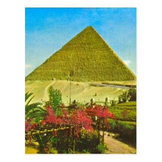 Replica  Vintage image, Egypt, Great pyramid, Giza Postcard
