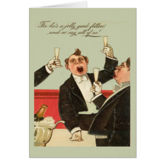 Replica Vintage image ,Jolly good fellow! Card