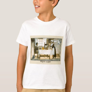 Replica Vintage image,Pilgrim supper, Thanksgiving T-Shirt