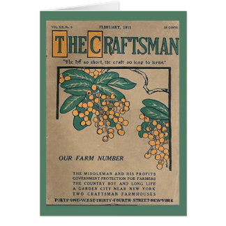 Replica Vintage image, The Craftsman, cover 1911 Greeting Card