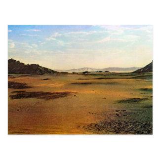 Replica  Vintage Libya, Wadi in the Sahara Postcard