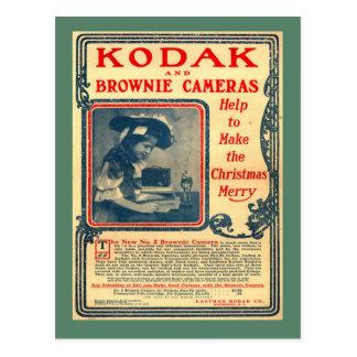 Replica Vintage postcard, Kodak Brownie Cameras Postcard