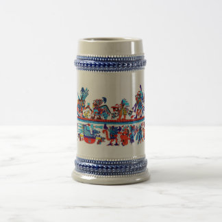 replicate moche art beer stein