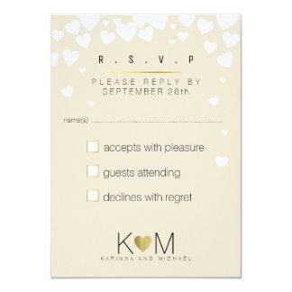 reply, respond rsvp elegant, romantic love wedding card