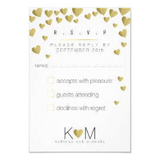 reply rsvp elegant, romantic love wedding card