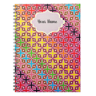 Report card multicoloured reason cross abstract notebook