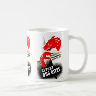 Report Dog Bites Coffee Mug