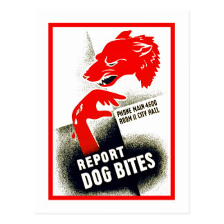 Report Dog Bites Postcard