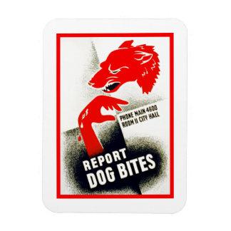 Report Dog Bites Rectangular Photo Magnet