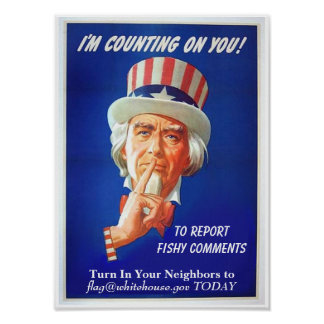 Report Fishy Comments Funny Political Satire Poster