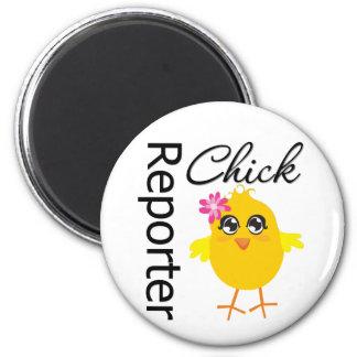Reporter Chick Fridge Magnet