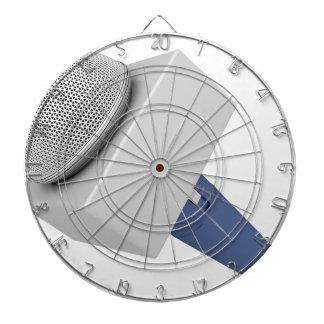 Reporter microphone dartboard