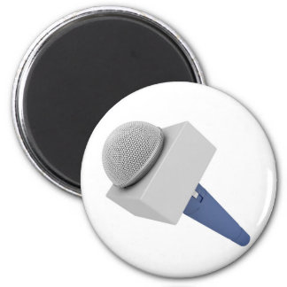 Reporter microphone magnet
