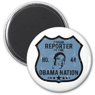 Reporter Obama Nation Fridge Magnet
