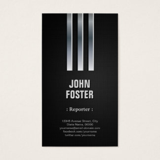 Reporter - Steel Metal Look Business Card