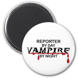 Reporter Vampire by Night Fridge Magnet