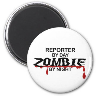 Reporter Zombie 2 Inch Round Magnet