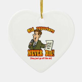 Reporters Ceramic Heart Ornament