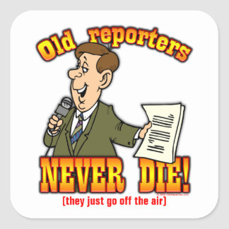 Reporters Square Sticker