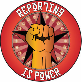 Reporting Is Power Acrylic Cut Out
