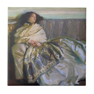 Repose by John Singer Sargent Ceramic Tiles