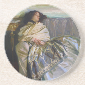Repose by John Singer Sargent Drink Coasters